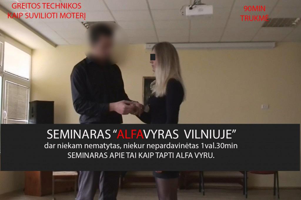 Seminaras ALFA VYRAS Vilniuje